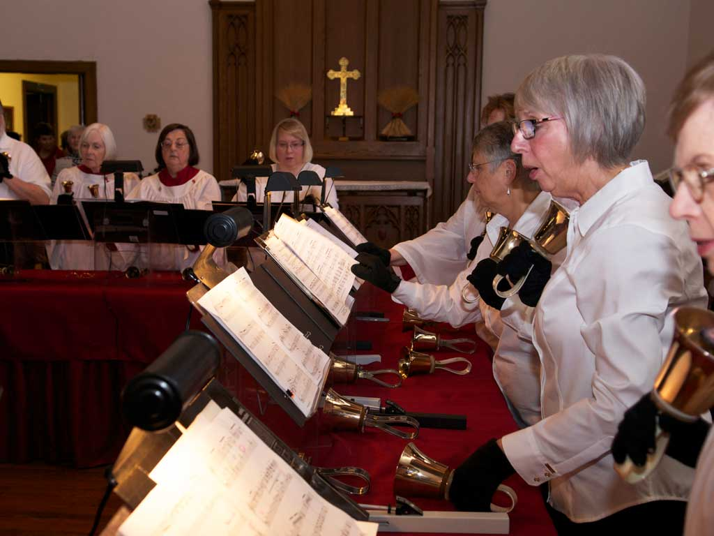 The Handbell Choir in performance.